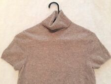 MAGASCHONI Women's Turtle Neck Cashmere Short Sleeve Sweater Size Small S