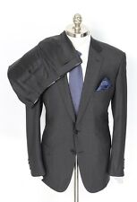 BRIONI Colosseo 22 Solid Charcoal Handmade Wool 2Btn Suit 57 47 fits 46R NWT $7K