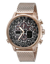 CITIZEN JY8033-51E Eco-Drive Navihawk A-T Rose Gold Perpetual Calendar Watch