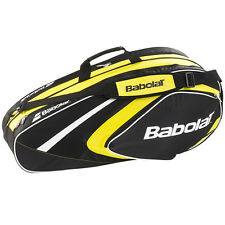 Babolat Club Line Tennis Racquet Holder Back Pack Bag 6 Yellow New Free Shipping
