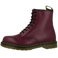 DR DOC MARTENS 1460 BOOTS 8-LOCH LEDER STIEFEL CHERRY RED SMOOTH 10072600