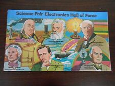 VINTAGE 1976 PUZZLE POSTER - SCIENCE FAIR ELECTRONICS HALL OF FAME
