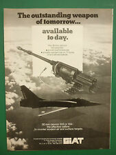 7/1987 PUB GIAT ARMEMENTS 30 MM CANNON 553 554 CANON MIRAGE 2000 ORIGINAL  AD