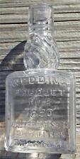 WEDDING BOUQUET RYE Old 1890 Salesman's Sample Whiskey Bottle Pre-Pro Omaha NE