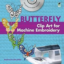 Chinese Butterfly Clip Art for Machine Embroidery by Alan Weller (2010,...