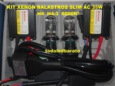 Kit Bi-xenon con balastros SLIM AC de 35w H4 H4-3 6000kº Bixenon para coche 6000