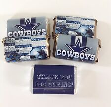 50 DALLAS COWBOYS FOOTBALL MINI CANDY BAR WRAPPERS PARTY FAVORS