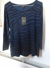 New withTag JAEGAR  Elegant Blue/Navy  Top  * Note Measurements