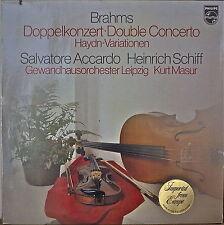 BRAHMS: Double Concerto-M1979LP DUTCH IMPORT SALVATORE ACCARDO/KURT MASUR