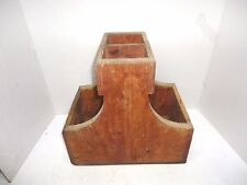 Vtg Primitive Hand Made Wooden Blacksmith Tool Chest Tote Box Horseshoeing