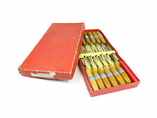 Boxed Set Of 12 J.B. Addis Carving Chisels