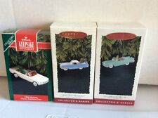 Hallmark Classic American Car Series Lot Mustang, T-Bird and '57 Chevy
