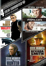 The Hunter, Nevada Smith, Papillon, Bullitt - 4 Steve McQueen Films - New