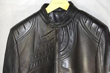 GORGEOUS !!! GUCCI MEN PADDED LAMB LEATHER THRILLER  BIKER JACKET EU 56 US 46