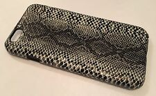 Apple Iphone 6 6S 4.7 cover case protective hard back Snakeskin snake skin Grey