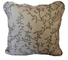 Dusky Pink Floral Square Cushion Cover (45x45cm)