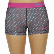 NIKE PRO dri fit SHORTS  SIZE 10 12 MEDIUM ACTIVE BLUE PINK BOLT PRINT 3''