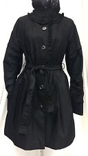 RETTO Creative Collection Spring Autumn Coat Belted Fit Black USA M/EUR 46