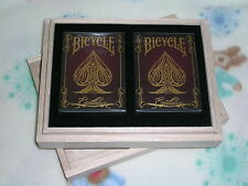 1 Set 2 decks of Limited Edition Bicycle Excellence Playing Cards + Wood Box