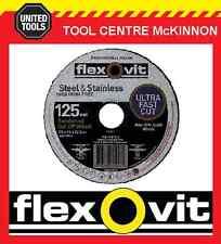 """10 x FLEXOVIT 125mm / 5"""" MEGA-LINE ULTRA THIN METAL CUT-OFF WHEEL"""