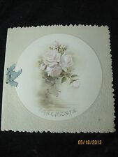 """Antique Christmas card Booklet of Poems and Sayings 'Fragments"""" embossed"""