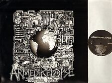 ARMED RELAPSE industrial filth AR1 with lyrics poster hardcore punk LP PS EX+/VG