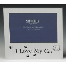 I love My Cat Satin silver photo frame-shudehill Giftware