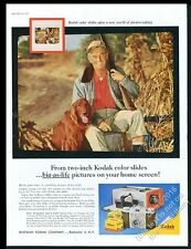 1957 Irish Setter and hunter photo Kodak Pony 135 camera vintage print ad