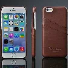 iphone 6/6s 4.7 Genuine Leather Hand Crafted case Back Cover Only,BRN