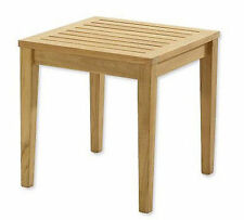 """Sack A-Grade Teak 21"""" Square Side End Table  Stool Outdoor Patio Furniture NW"""