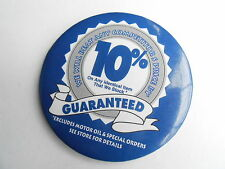 Cool Vintage Auto Shop We Will Beat Competitors Price Motor Oil Excluded Pinback