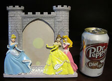 RARE Disney Princess Castle Picture Photo Frame Cinderella Belle Sleeping Beauty
