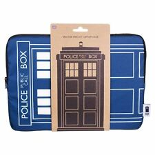 Official Doctor Who Tardis Zip-Up Laptop Case 13 Inch - BBC Blue Police Box