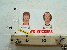 STICKER,DECAL SOREN LERBY & PAULO FALCAO VOETBAL SOCCER, ONE MISSING
