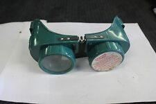 GATEWAY GREEN Welders Goggles, Industrial Age Eye Wear #1562