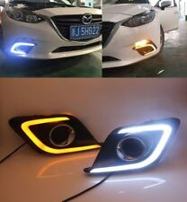 2x DRL LED Daytime Running Lights fog lamp fog light for 2013 2016 Mazda 3 2P