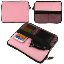 """Pink Neoprene Sleeve Tablet Case Cover Zipper Pouch For iPad Pro 9.7""""/iPad Air 2"""