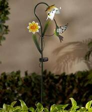 Solar Flower Garden Stakes Yard Lighting Hummingbird