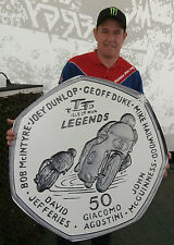 2015 ISLE OF MAN TT LEGENDS 50p COIN FREE INSURED P&P McGUINNESS DUNLOP HAILWOOD