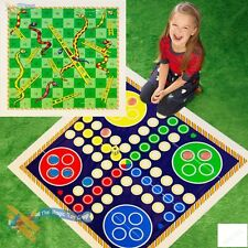 GIANT GARDEN OUTDOOR LUDO PLAY MAT CHILDRENS KIDS TRADITIONAL BOARD GAME TOY