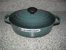 Le Creuset Ocean 3-1/2 Qt Wide Oval Dutch Oven #27 Signature Series-Rare