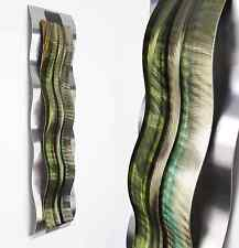 Modern Abstract Metal Wall Sculpture Art Green Tropical Painting Home Decor New