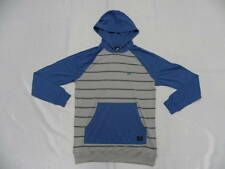 Quiksilver Captain Blue Pull Over Hoodie Sweater Long Sleeve Size Medium