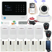 E75 WIFI APP GSM Wireless Office Home Security Alarm Burglar System 720P Camera