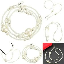 A Reading Glasses Spectacle Sunglasses Crystal Bead Beaded Chain Neck Cord Strap