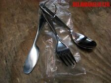 *Bug-out Camping Eating Stainless Steel 3 pc. Chow Silverware Utensil Set w/Ring