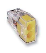 Wago 2 fili elettrici Spingere Connettore Morsettiera x 10