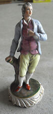 """Antique 1800s Capodimonte Florence Suitor Boy Figurine 6"""" Tall"""