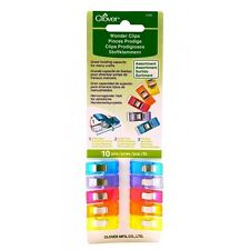 Clover Wonder Clips 10 Pcs Assorted Colors #3185