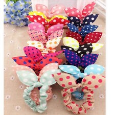 10pcs Fashion Cute Hair Tie Band Loop Ponytail Holder Elastic Rubber Women Girl